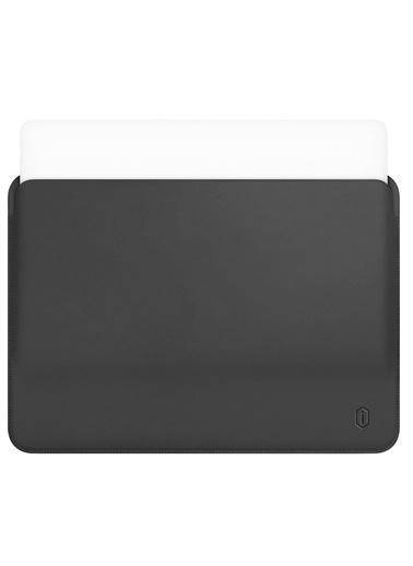 Wiwu Wiwu MacBook Pro Air Retina Çanta Koruyucu Kese Zarf Kılıf 13.3 inç Vegan Deri Sleevebag SkinPro Gri